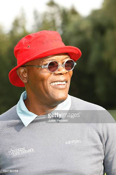 Samuel L Jackson at the Shooting Stars Benefit 2010 Golf Tournament in aid of Samuel L Jackson foundation and Swiss Red Cross on September 16 2010 in...