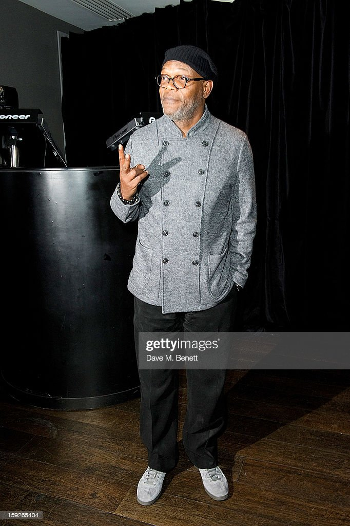 Samuel L. Jackson attends an after party following the UK Premiere of 'Django Unchained' at Aqua on January 10, 2013 in London, England.