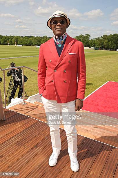 Samuel L Jackson attends day one of the Audi Polo Challenge at Coworth Park on May 30 2015 in London England