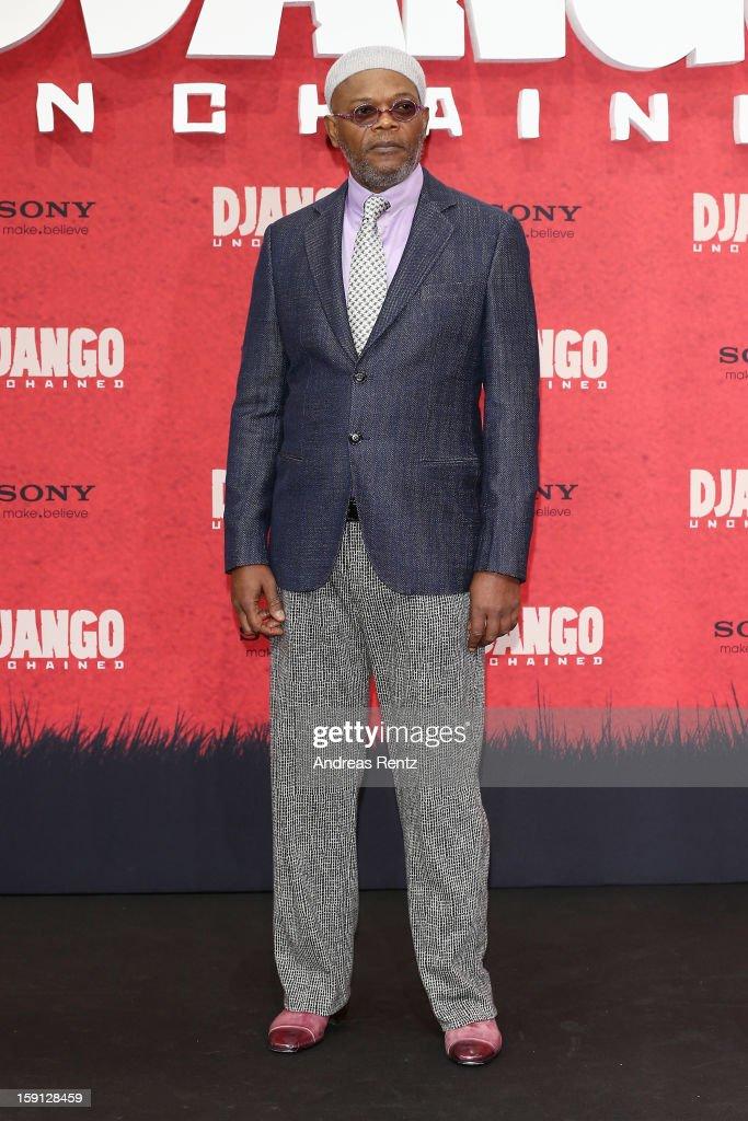 Samuel L. Jackson attends 'Django Unchained' Berlin Premiere at Cinestar Potsdamer Platz on January 8, 2013 in Berlin, Germany.
