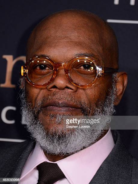 Samuel L Jackson attends 'Kingsman The Secret Service' New York Premiere at SVA Theater on February 9 2015 in New York City