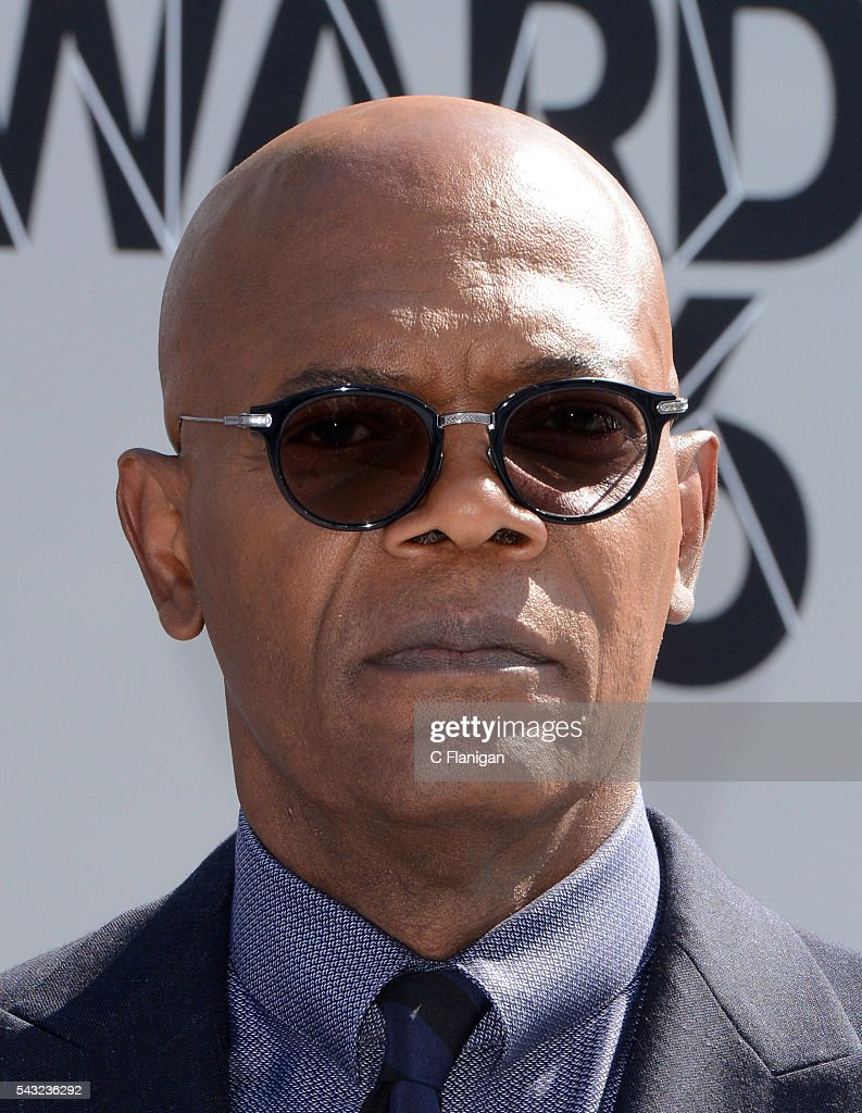 <a gi-track='captionPersonalityLinkClicked' href=/galleries/search?phrase=Samuel+L.+Jackson&family=editorial&specificpeople=167234 ng-click='$event.stopPropagation()'>Samuel L. Jackson</a> attends the 2016 BET Awards at Microsoft Theater on June 26, 2016 in Los Angeles, California.