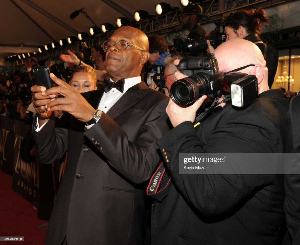 Samuel L Jackson attends the 68th Annual Tony Awards at Radio City Music Hall on June 8, 2014 in New York City.