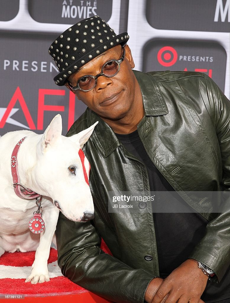 <a gi-track='captionPersonalityLinkClicked' href=/galleries/search?phrase=Samuel+L.+Jackson&family=editorial&specificpeople=167234 ng-click='$event.stopPropagation()'>Samuel L. Jackson</a> attends the AFI Night At The Movies presented by Target held at ArcLight Hollywood on April 24, 2013 in Hollywood, California.