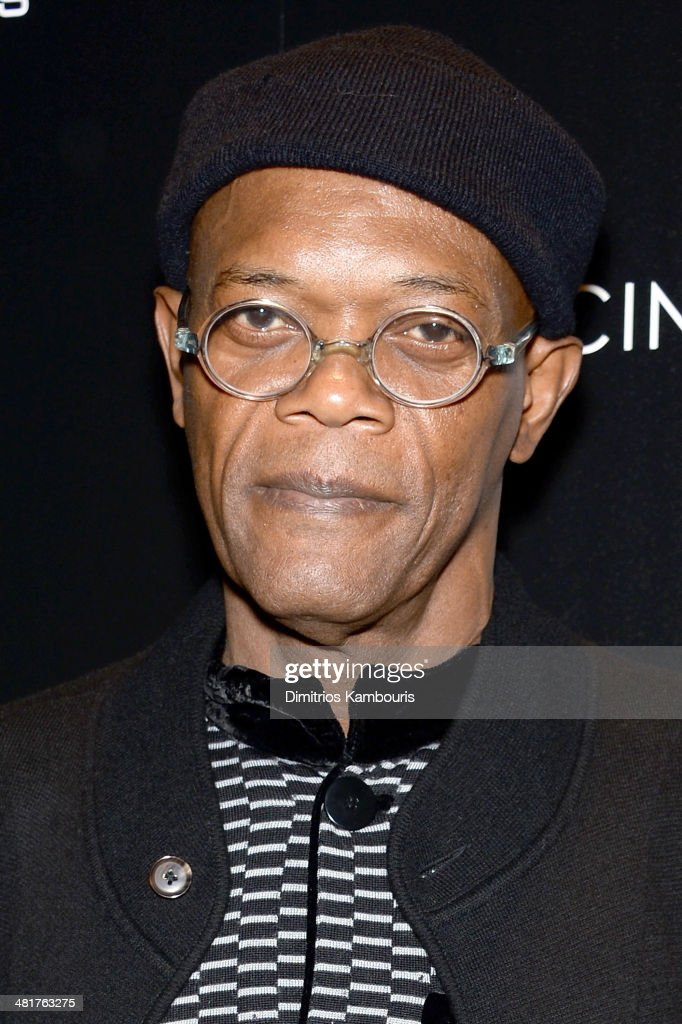 <a gi-track='captionPersonalityLinkClicked' href=/galleries/search?phrase=Samuel+L.+Jackson&family=editorial&specificpeople=167234 ng-click='$event.stopPropagation()'>Samuel L. Jackson</a> attends The Cinema Society & Gucci Guilty screening of Marvel's 'Captain America: The Winter Soldier' at Tribeca Grand Hotel on March 31, 2014 in New York City.