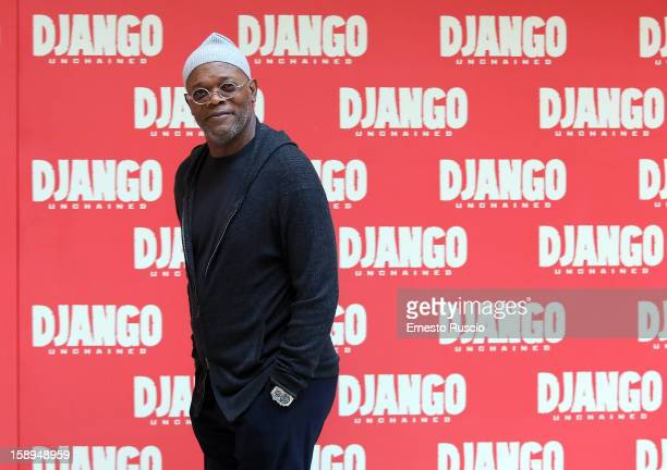 Samuel L Jackson attends the 'Django Unchained' photocall at the Hassler Hotel on January 4 2013 in Rome Italy