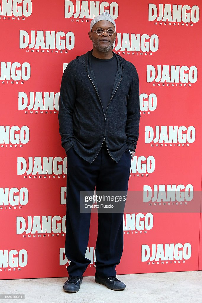 Samuel L. Jackson attends the 'Django Unchained' photocall at the Hassler Hotel on January 4, 2013 in Rome, Italy.