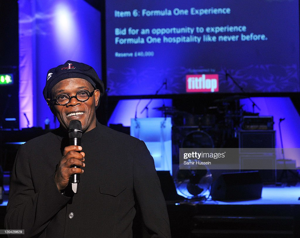 Samuel L Jackson attends the FitFlop Shooting Stars Benefit Closing Ball following a two-day golf tournament raising vital funds for Make-A-Wish Foundation UK at the Royal Courts of Justice on August 5, 2011 in London, England.