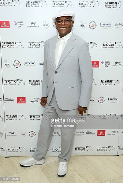 Samuel L Jackson attends the In Conversation With during day three of the 13th annual Dubai International Film Festival held at the Madinat Jumeriah...