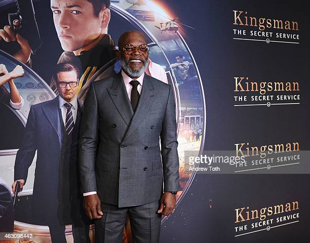 Samuel L Jackson attends the 'Kingsman The Secret Service' New York premiere at SVA Theater on February 9 2015 in New York City