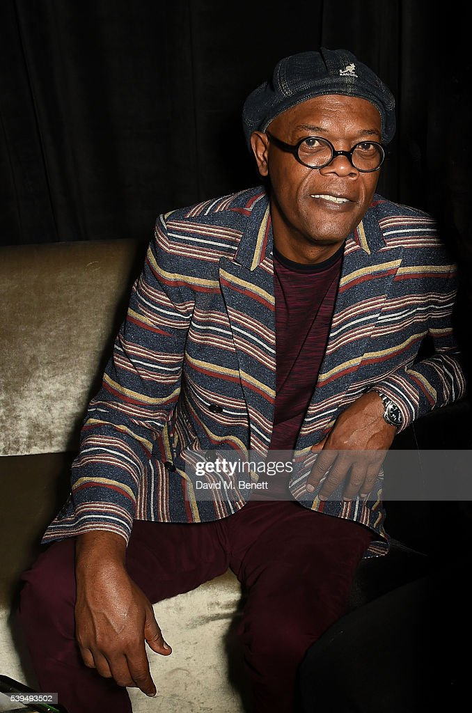 Samuel L Jackson attends the Moet NOW Or Neverland Party celebrating the first champagne spray moment nearly 50 years ago by Dan Guerney at The Le...