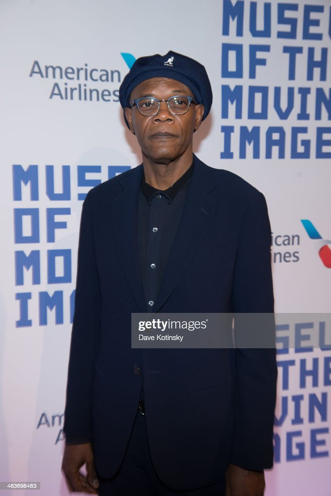 <a gi-track='captionPersonalityLinkClicked' href=/galleries/search?phrase=Samuel+L.+Jackson&family=editorial&specificpeople=167234 ng-click='$event.stopPropagation()'>Samuel L. Jackson</a> attends the Museum Of The Moving Image 28th Annual Salute Honoring Kevin Spacey on April 9, 2014 in New York City.