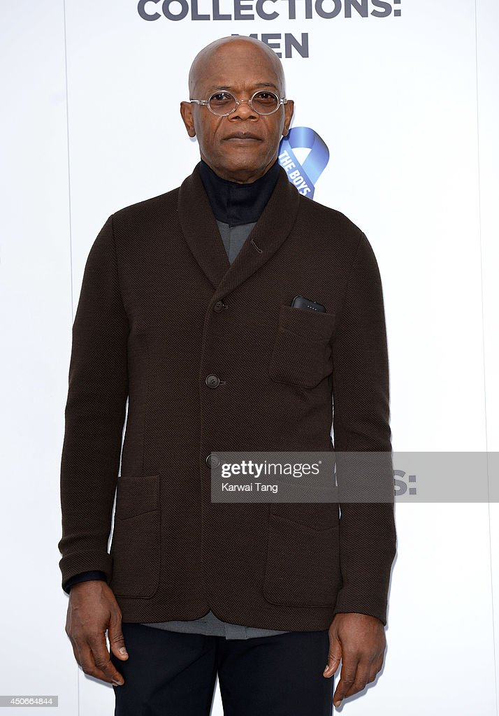 Samuel L Jackson attends the One For The Boys charity ball during the London Collections: Men SS15 on June 15, 2014 in London, England.