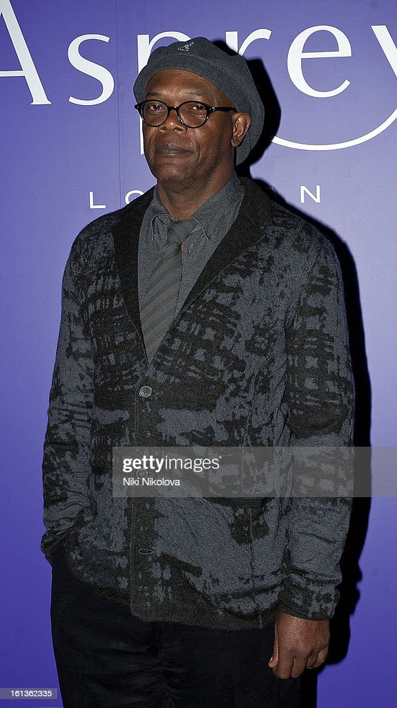 <a gi-track='captionPersonalityLinkClicked' href=/galleries/search?phrase=Samuel+L.+Jackson&family=editorial&specificpeople=167234 ng-click='$event.stopPropagation()'>Samuel L. Jackson</a> attends the The EE British Academy Film Awards Nominees Party at Asprey on February 9, 2013 in London, England.