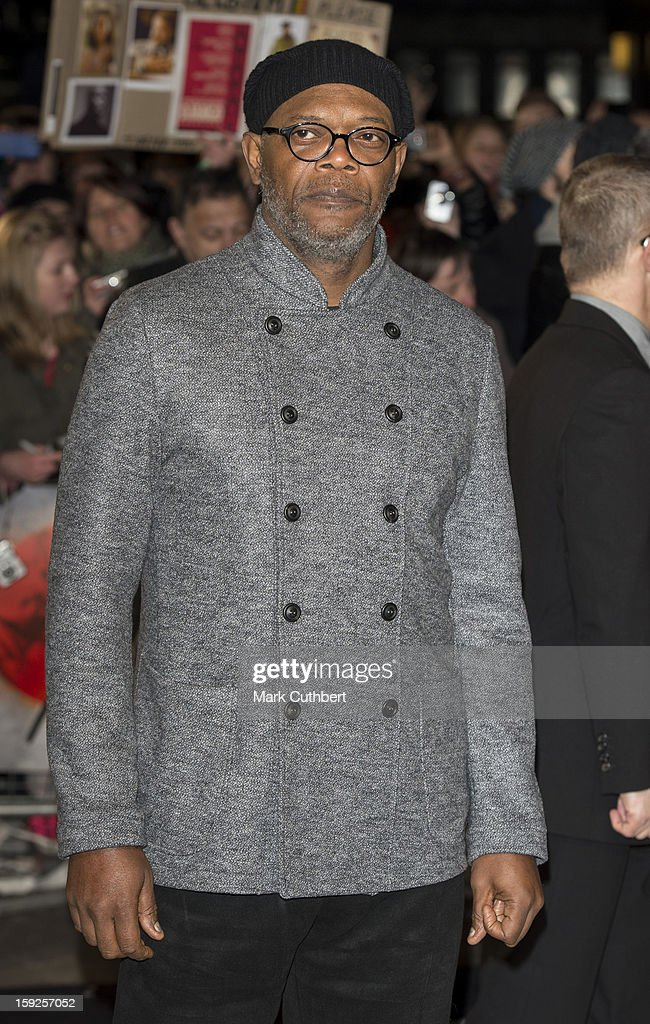 Samuel L Jackson attends the UK premiere of 'Django Unchained' at Empire Leicester Square on January 10, 2013 in London, England.