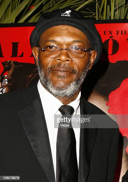 Samuel L Jackson during 2006 Cannes Film Festival 'Volver' Premiere Dinner at Noga Beach in Cannes France