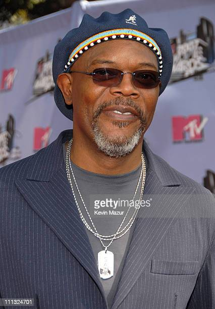 Samuel L Jackson during 2007 MTV Movie Awards Red Carpet at Gibson Amphitheater in Los Angeles California United States
