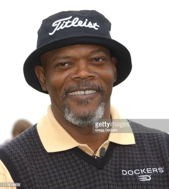 Samuel L Jackson during 9th Annual Michael Douglas Friends Celebrity Golf Event at Trump National Golf Club in Rancho Palos Verdes California United...
