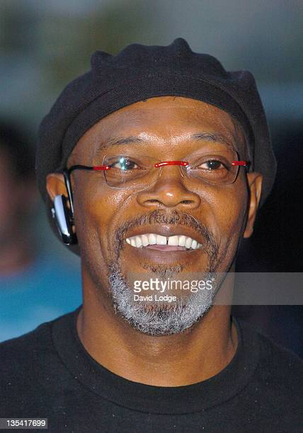 Samuel L Jackson during 'Miami Vice' London Premiere Outside Arrivals at Odeon Leicester Square in London Great Britain