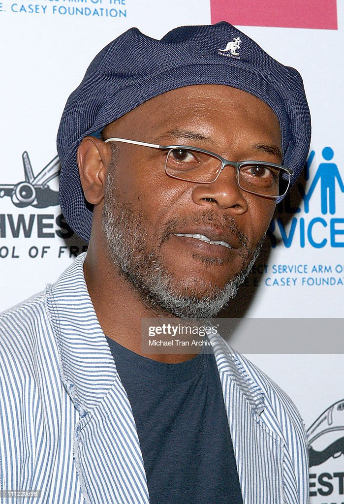<a gi-track='captionPersonalityLinkClicked' href=/galleries/search?phrase=Samuel+L.+Jackson&family=editorial&specificpeople=167234 ng-click='$event.stopPropagation()'>Samuel L. Jackson</a> during Museum of Contemporary Art & Rowell Foster Children's Positive Plan 'Passion Art Tour' - Arrivals at Museum of Contemporary Art (MOCA) in Los Angeles, CA, United States.