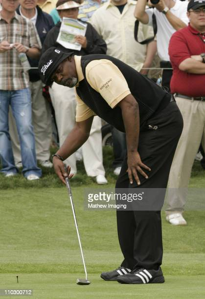 Samuel L Jackson during The Ninth Annual Michael Douglas and Friends Celebrity Golf Tournament at Trump National Golf Club in Rancho Palos Verdes...