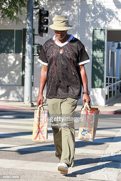 Samuel L Jackson is seen after grocery shopping on November 26 2014 in Los Angeles California