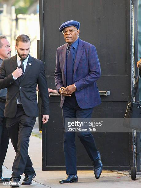 Samuel L Jackson is seen at 'Jimmy Kimmel Live' on January 26 2017 in Los Angeles California