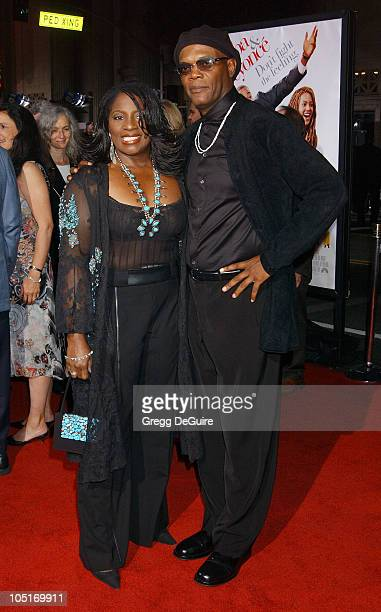 Samuel L Jackson LaTanya Richardson during 'The Fighting Temptations' Premiere at Mann's Chinese Theatre in Hollywood California United States