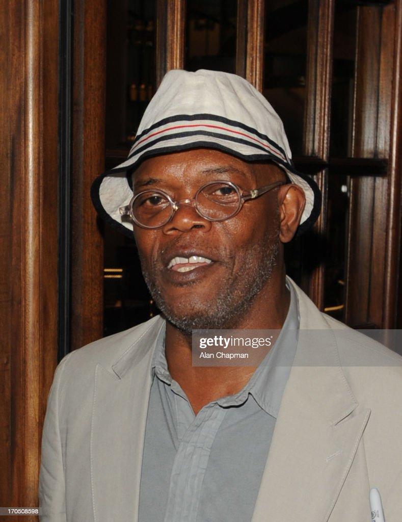 Samuel L Jackson sighting at Asprey, Mayfair on June 13, 2013 in London, England.