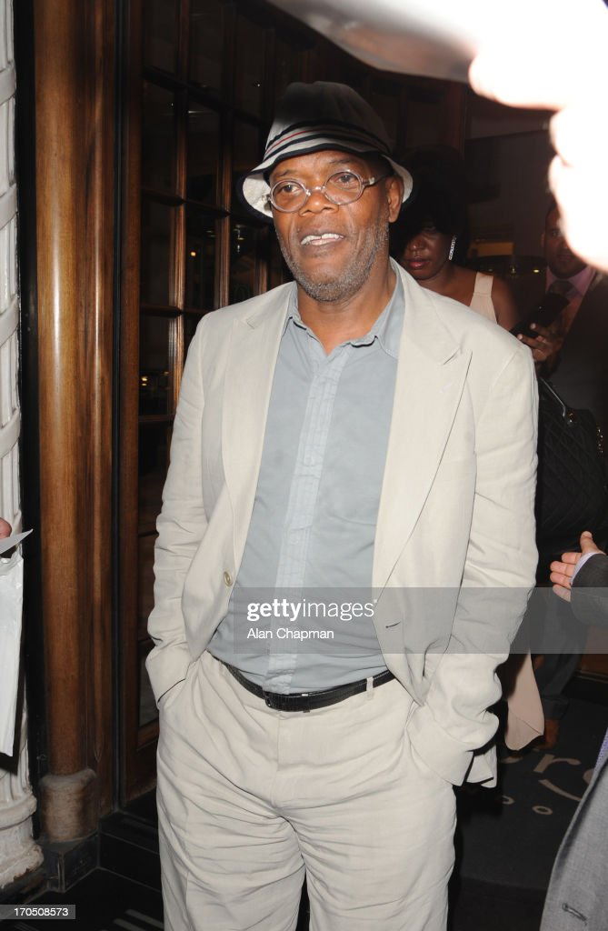 Samuel L Jackson sighting at Aspreys, Mayfair on June 13, 2013 in London, England.