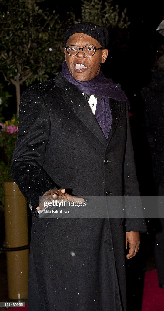 Samuel L. Jackson sighting on February 10, 2013 in London, England.