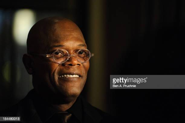 Samuel L Jackson speaks during the Shooting Stars Benefit Launch 2012 at Corinthia Hotel London on October 20 2012 in London England