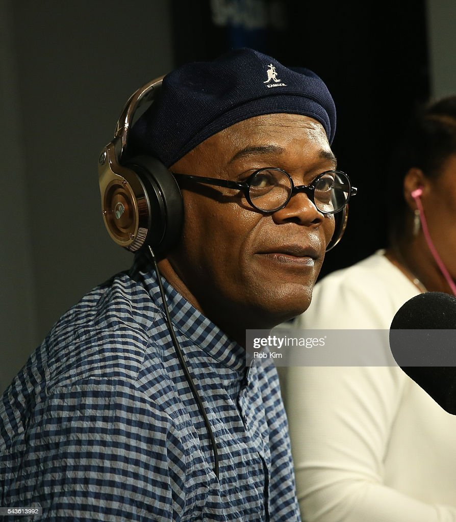 <a gi-track='captionPersonalityLinkClicked' href=/galleries/search?phrase=Samuel+L.+Jackson&family=editorial&specificpeople=167234 ng-click='$event.stopPropagation()'>Samuel L. Jackson</a> visits 'Sway in the Morning' at SiriusXM Studio on June 29, 2016 in New York City.