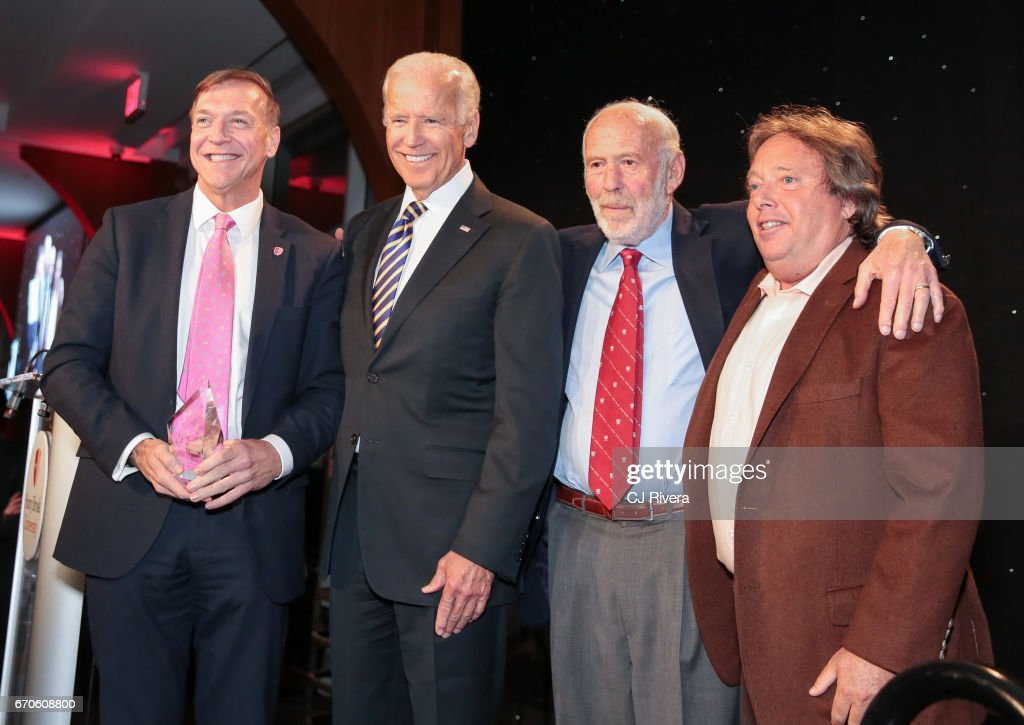 Samuel L. Stanley, Joe Biden, James Simons, and Richard Gelfond attend the 2017 Stars of Stony Brook Gala at Pier Sixty at Chelsea Piers on April 19, 2017 in New York City.