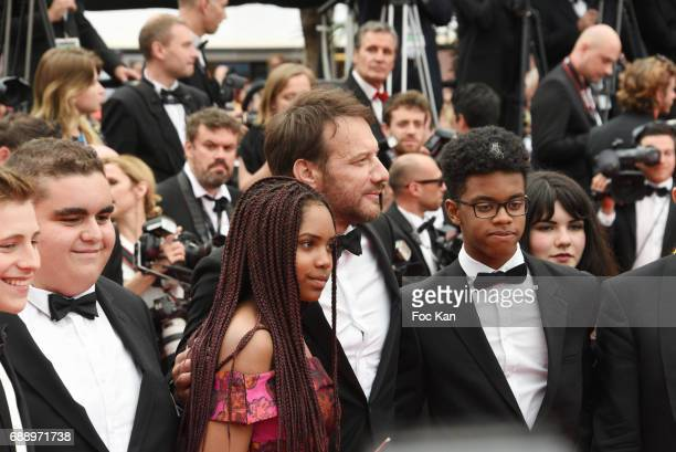 Samuel Le Bihan and guests attend 'Amant Double ' Red Carpet Arrivals during the 70th annual Cannes Film Festival at Palais des Festivals on May 26...