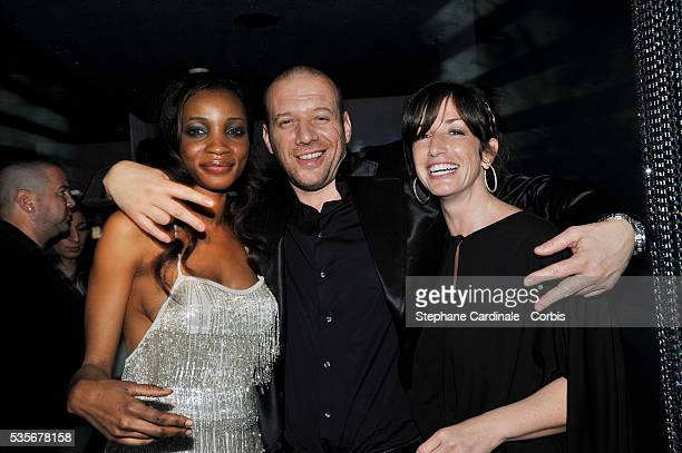 Samuel Le Bihan Daniela and Albane Cleret attend a party at Jimmy'z during the 61st Cannes Film Festival