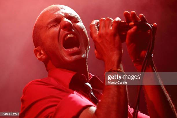 Samuel leader and singer of pop group Subsonica during a concert at Bagnoli Arenile