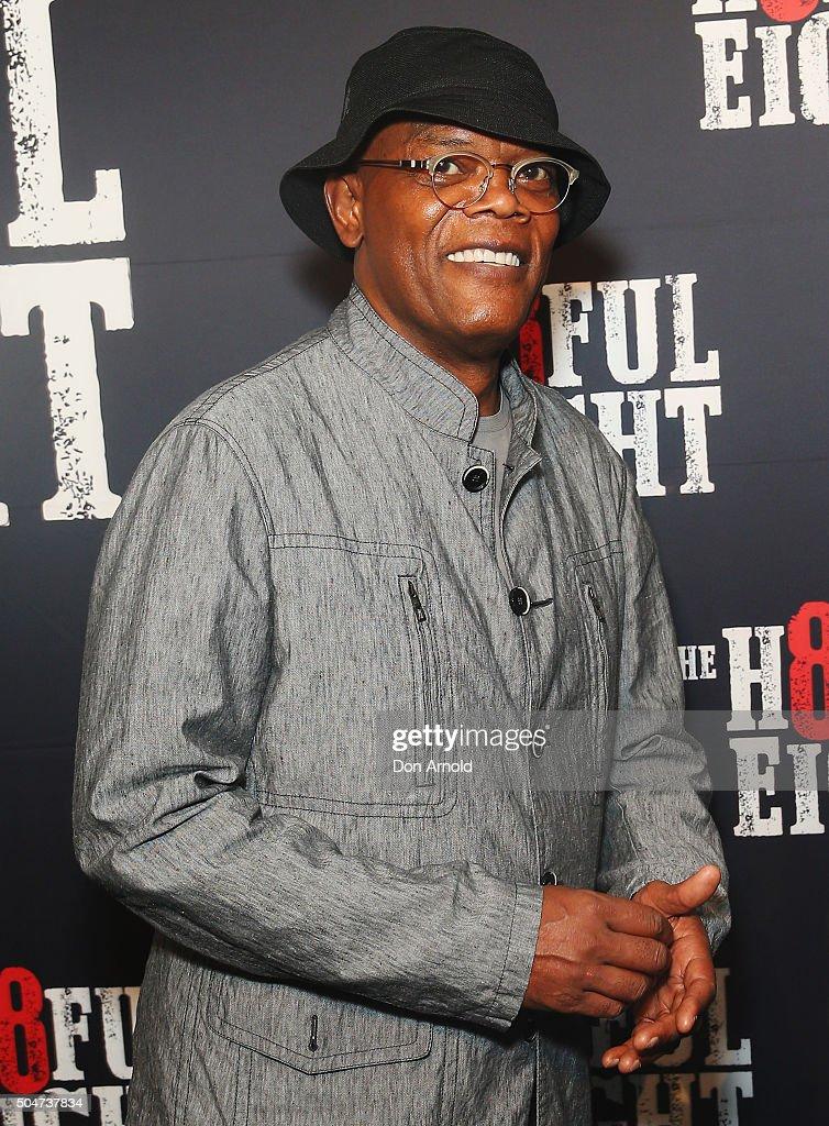 Samuel L.Jackson arrives ahead of the Australian premiere of The Hateful Eight at Event Cinemas George Street on January 13, 2016 in Sydney, Australia.