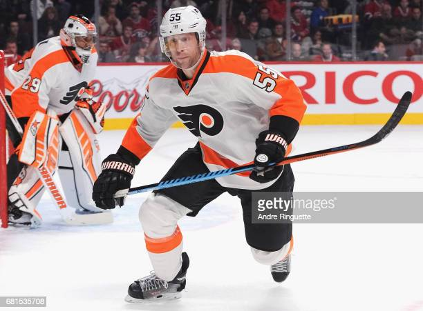 Samuel Morin of the Philadelphia Flyers plays in the game against the Montreal Canadiens at the Bell Centre on November 15 2014 in Montreal Quebec...