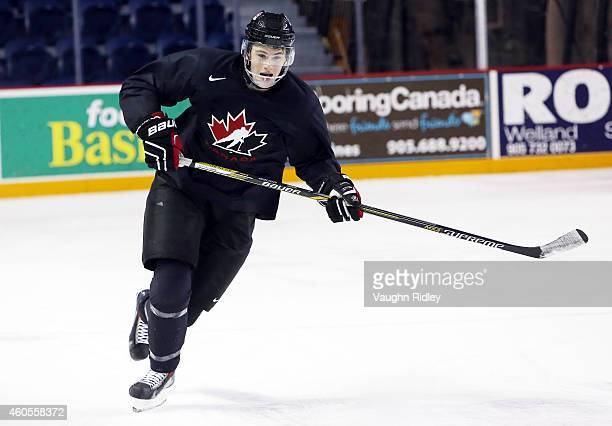 Samuel Morin skates during the Canada National Junior Team practice at the Meridian Centre on December 16 2014 in St Catharines Ontario Canada