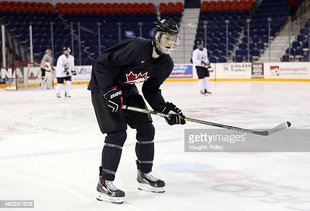 Samuel Morin skates during the Canada National Junior Team practice at the Meridian Centre on December 17 2014 in St Catharines Ontario Canada