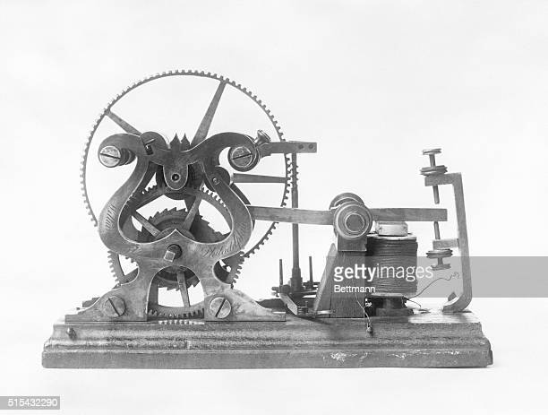 Samuel Morse's telegraph that was used to send the first telegraph messaged from Washington DC to Baltimore on May 24 1844