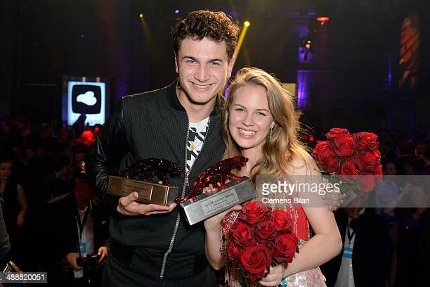 Samuel Schneider and Alicia von Rittberg attend Leonardo at the New Faces Award Film 2014 at eWerk on May 8 2014 in Berlin Germany