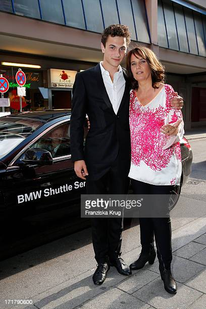 Samuel Schneider and Caroline Link attend the opening of the 'Munich Film Festival 2013' at the Mathaeser Cinema on June 28 2013 in Munich Germany