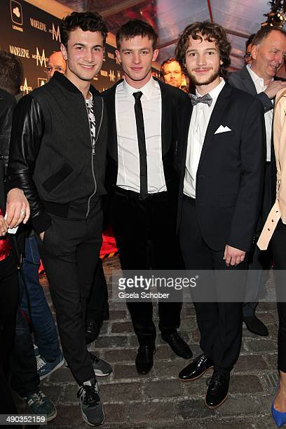 Samuel Schneider Jannis Niewoehner and Leonard Scheicher attend the New Faces Award Film 2014 at eWerk on May 8 2014 in Berlin Germany