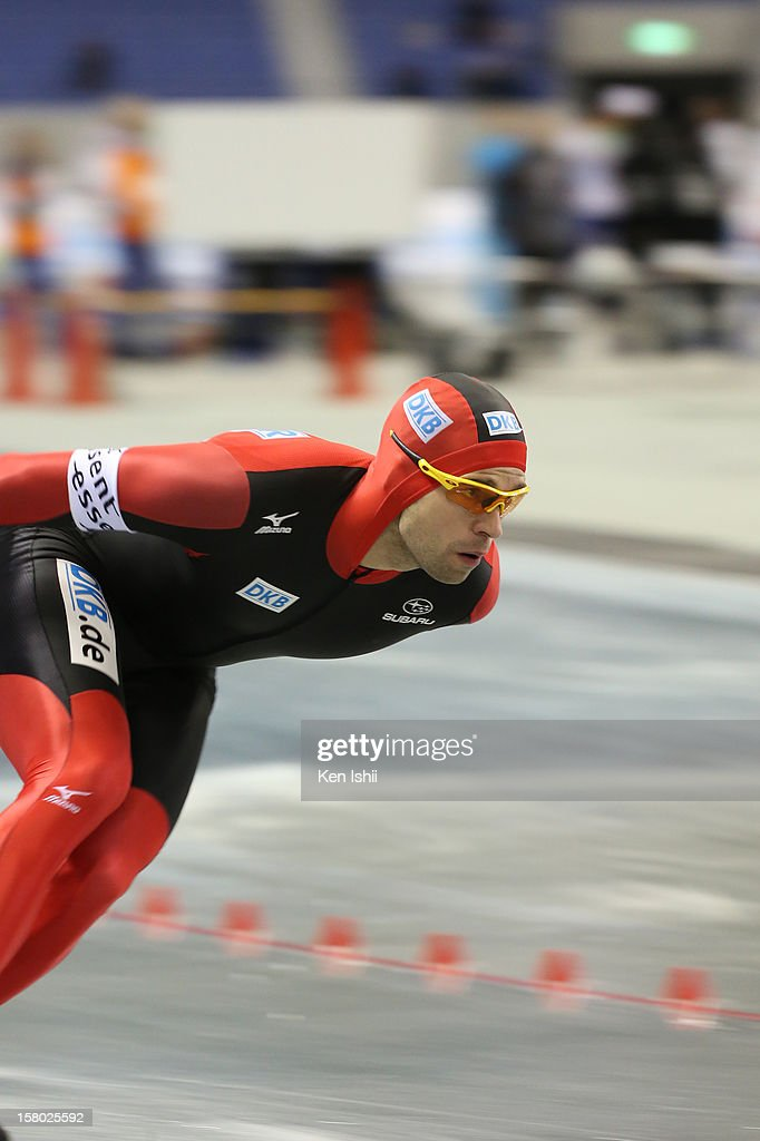 <a gi-track='captionPersonalityLinkClicked' href=/galleries/search?phrase=Samuel+Schwarz&family=editorial&specificpeople=2462253 ng-click='$event.stopPropagation()'>Samuel Schwarz</a> of Germany competes in the Men's 1,000m during day two of the ISU World Cup Speed Skating at MWave on December 9, 2012 in Nagano, Japan.