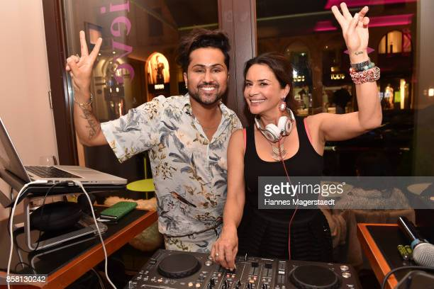 Samuel Sohebi and Gitta Saxx during the 'Die Kulisse Restaurant Reopening Party' on October 5 2017 in Munich Germany