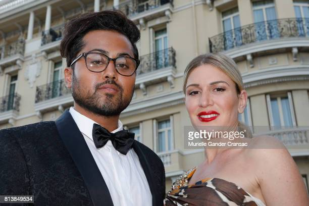 Samuel Sohebi and Hofit Golan attend the Friends Of Sheba Medical Center 'DRINKDANCEDONATE' event at Hotel Hermitage on July 12 2017 in Monaco Monaco