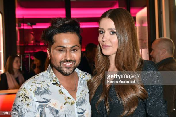 Samuel Sohebi and Ivana Sanja during the 'Die Kulisse Restaurant Reopening Party' on October 5 2017 in Munich Germany