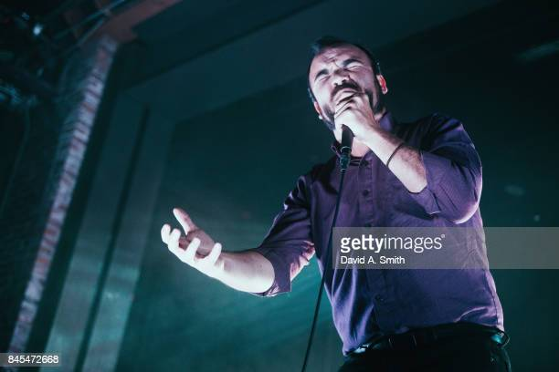 Samuel T Herring of Future Islands performs at Iron City on September 10 2017 in Birmingham Alabama